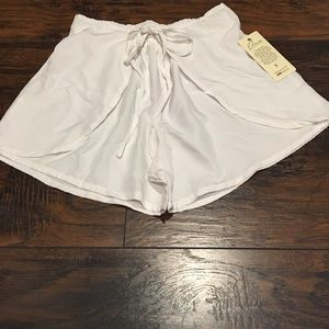 White shorts for beach or great with bathing suit.